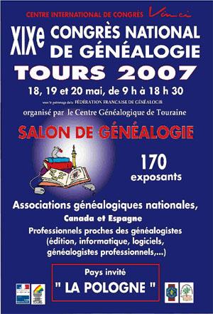 Congrés de généalogie à Tours